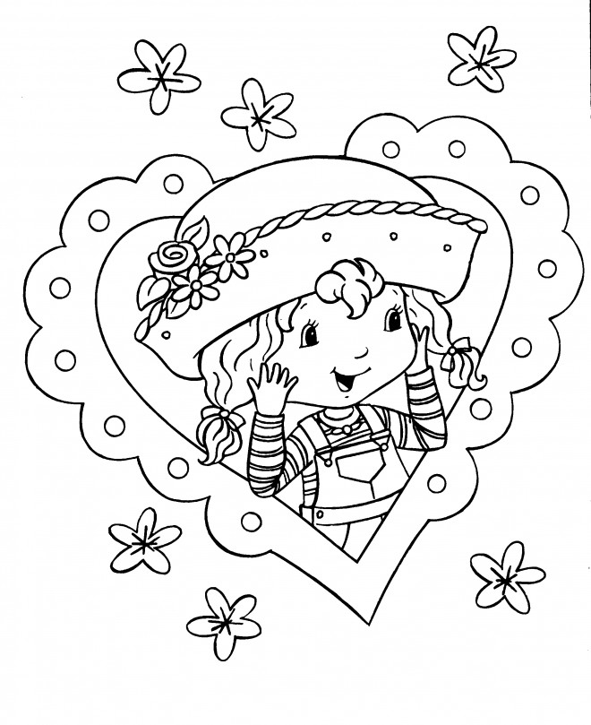 Coloriage et dessins gratuits Portrait de Fraisinette à imprimer