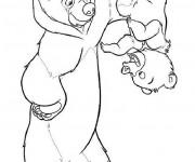 Coloriage dessin  Frere des Ours 6