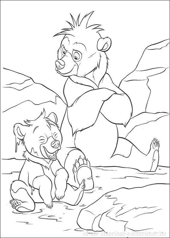 Coloriage et dessins gratuits Frère des ours à colorier à imprimer