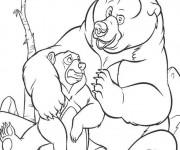 Coloriage Frère des ours à télécharger