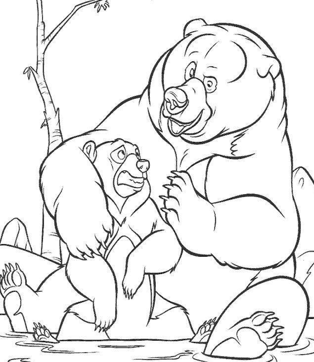 Coloriage et dessins gratuits Frère des ours à télécharger à imprimer