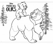 Coloriage et dessins gratuit Frère des Ours Affiche à imprimer