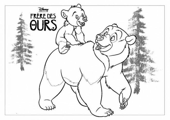 Coloriage et dessins gratuits Frère des Ours Affiche à imprimer