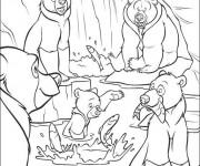Coloriage et dessins gratuit Frère des ours dessin animé à imprimer