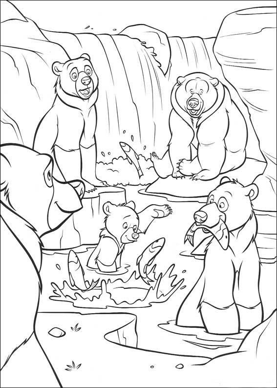 Coloriage et dessins gratuits Frère des ours dessin animé à imprimer