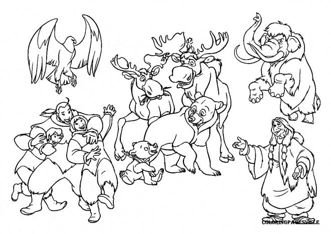 Coloriage et dessins gratuits Frère des ours Disney à imprimer