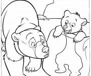 Coloriage et dessins gratuit Frère des ours en ligne à imprimer