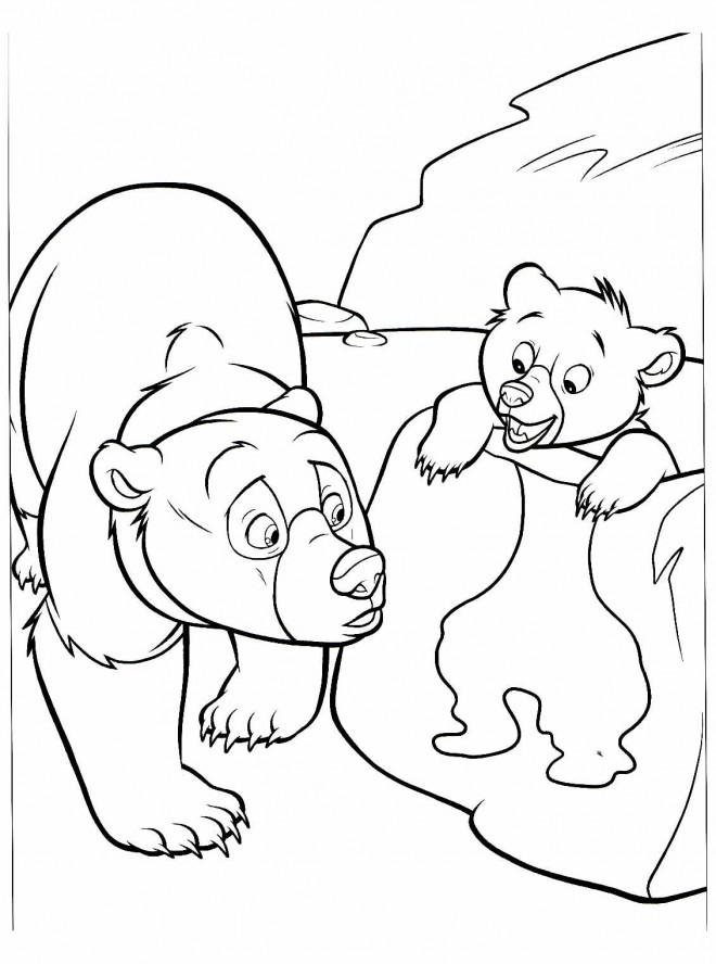 Coloriage et dessins gratuits Frère des ours en ligne à imprimer