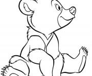 Coloriage et dessins gratuit Frère des ours en vecteur à imprimer