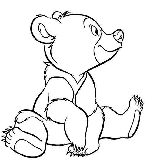 Coloriage et dessins gratuits Frère des ours en vecteur à imprimer