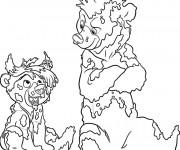 Coloriage Frère des ours humoristique
