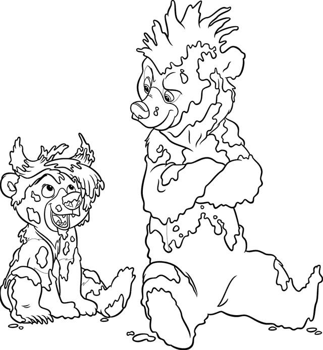 Coloriage et dessins gratuits Frère des ours humoristique à imprimer