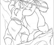Coloriage et dessins gratuit Frère des ours Kenai à imprimer
