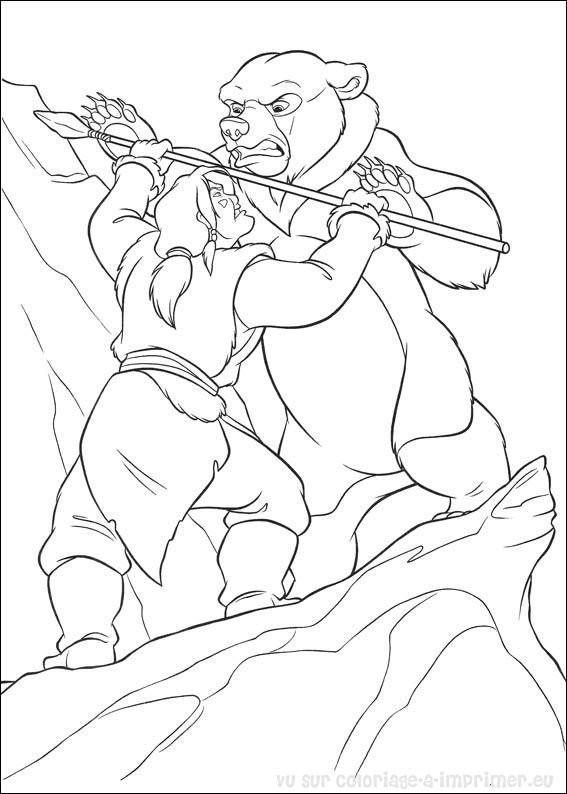Coloriage et dessins gratuits Frère des ours Kenai à imprimer