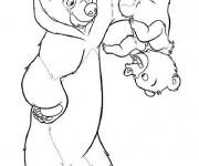 Coloriage et dessins gratuit Frère des ours Le Petit Ours à imprimer