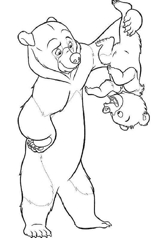 Coloriage et dessins gratuits Frère des ours Le Petit Ours à imprimer