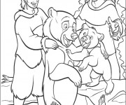 Coloriage Frère des ours maternelle