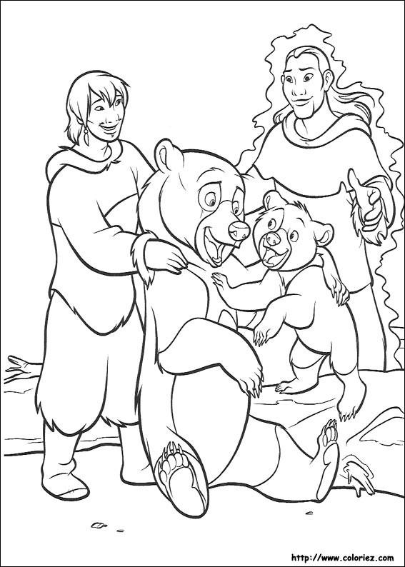Coloriage et dessins gratuits Frère des ours maternelle à imprimer