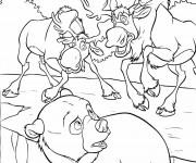 Coloriage et dessins gratuit Frère des ours Muche à imprimer