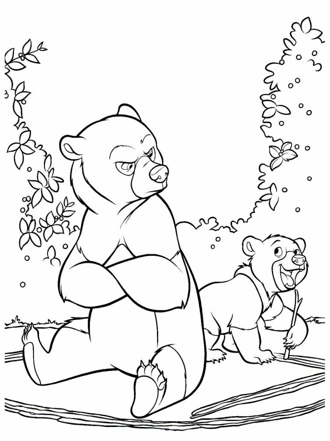 Coloriage et dessins gratuits Frère des ours Naima et Thunder à imprimer