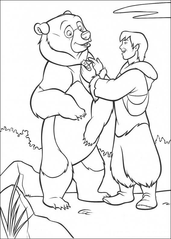 Coloriage et dessins gratuits Frère des ours vectoriel à imprimer