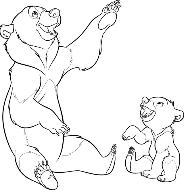 Coloriage et dessins gratuits Kenai et Kinu à imprimer