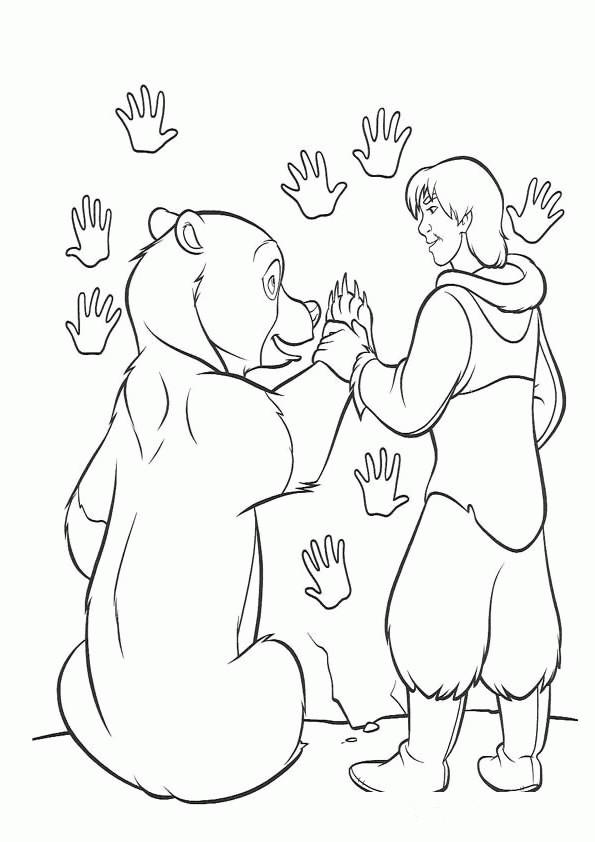 Coloriage et dessins gratuits Kenai et Mère de Koda à imprimer