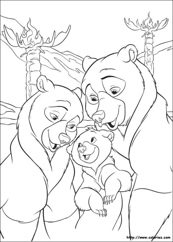 Coloriage et dessins gratuits Le Petit Ours et Sa Famille à imprimer