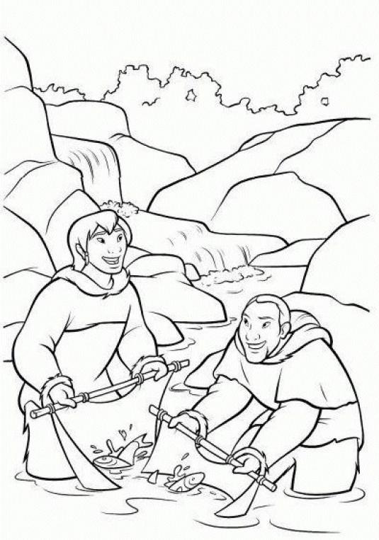 Coloriage et dessins gratuits Paysage de Frère des ours à imprimer