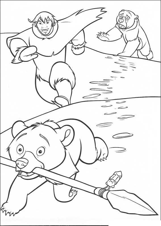 Coloriage et dessins gratuits Personnage de Frère des ours à imprimer