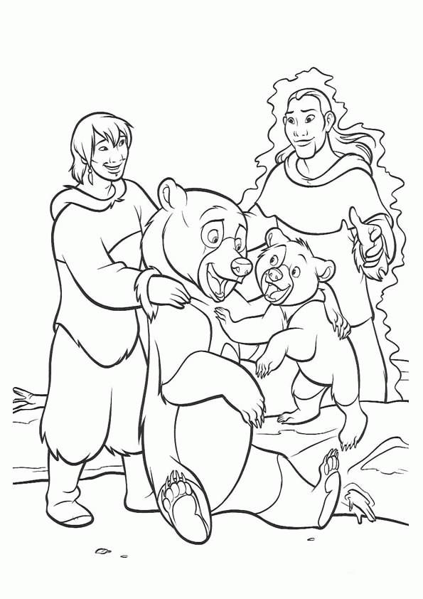 Coloriage et dessins gratuits Personnages de Frère des ours à imprimer