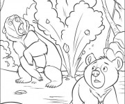 Coloriage et dessins gratuit Scène de Frère des ours à imprimer