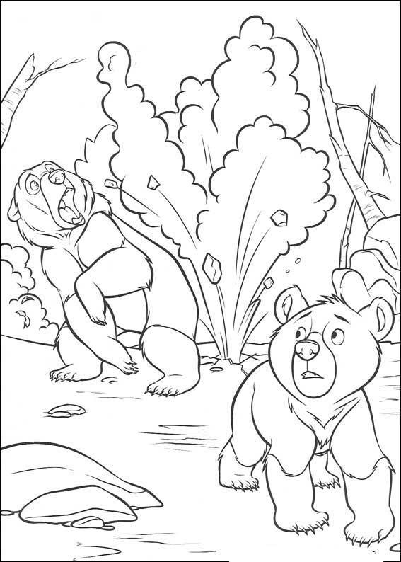 Coloriage et dessins gratuits Scène de Frère des ours à imprimer