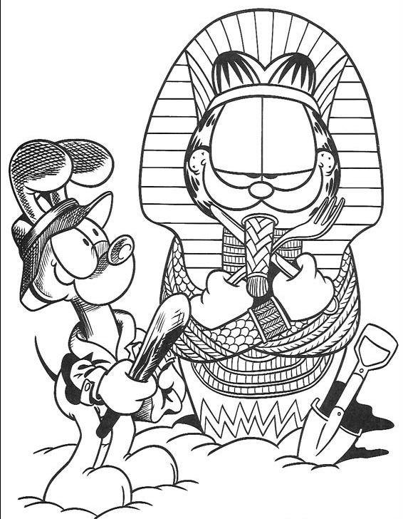 Coloriage et dessins gratuits Garfield dessin animé à imprimer