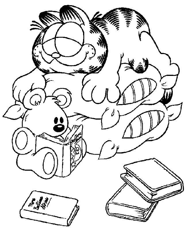 Coloriage et dessins gratuits Garfield endormi à imprimer