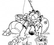 Coloriage Garfield facile