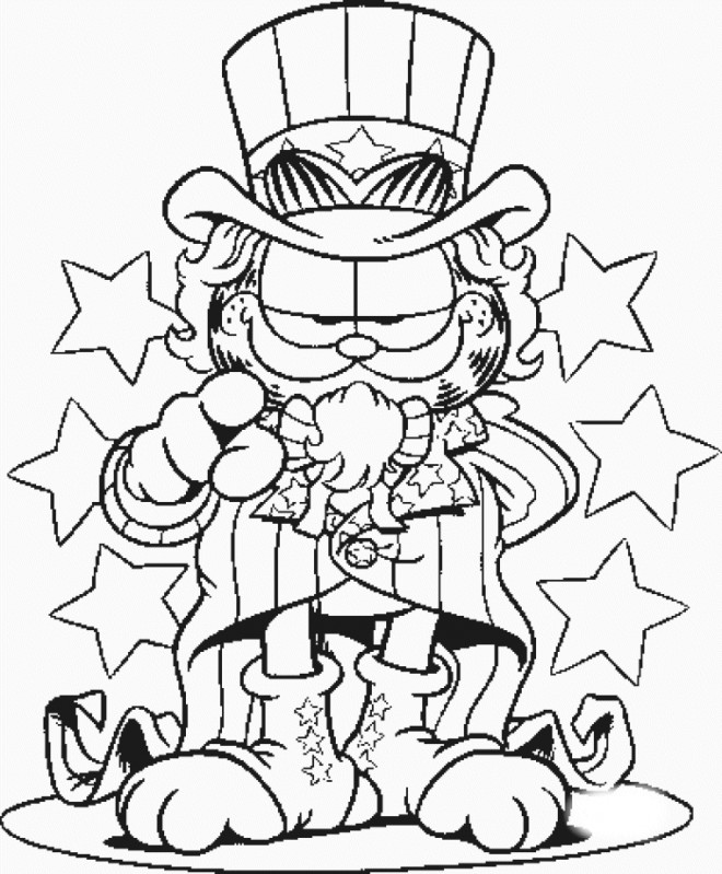 Coloriage et dessins gratuits Garfield Le manager du cirque à imprimer