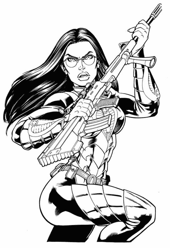 Coloriage gi joe personnage et arme dessin gratuit imprimer - Coloriage de arme ...