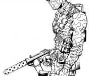 Coloriage Dessin de soldat GI-Joe en ligne