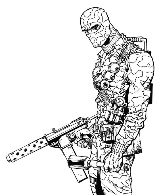 Coloriage et dessins gratuits Dessin de soldat GI-Joe en ligne à imprimer