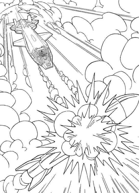 Coloriage et dessins gratuits GI-Joe avion à imprimer