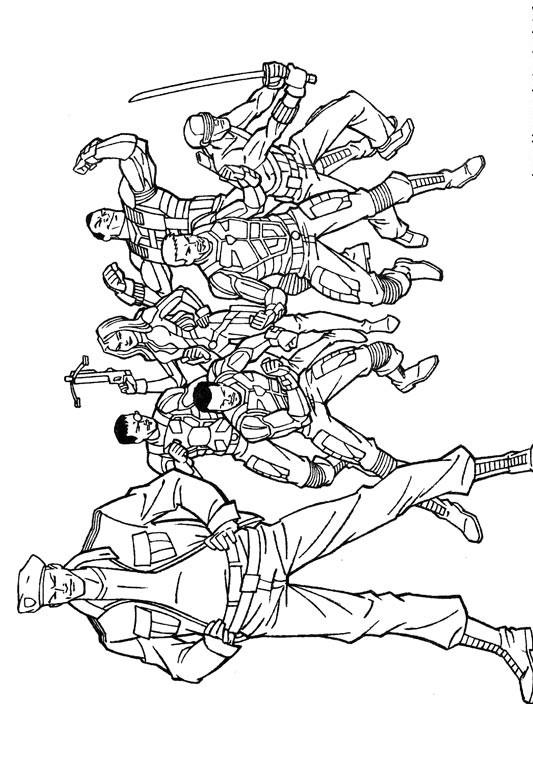 Coloriage et dessins gratuits GI-Joe Cobra stuff à imprimer