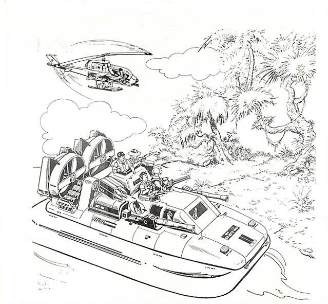 Coloriage et dessins gratuits GI-Joe Cobra Team à imprimer