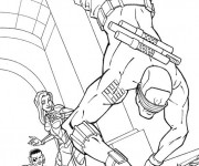 Coloriage GI-Joe  Dans le champ laser GI-Joe