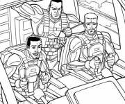 Coloriage et dessins gratuit GI-Joe en camion dessin animé à imprimer