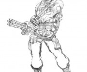 Coloriage GI-Joe portrait coloriage