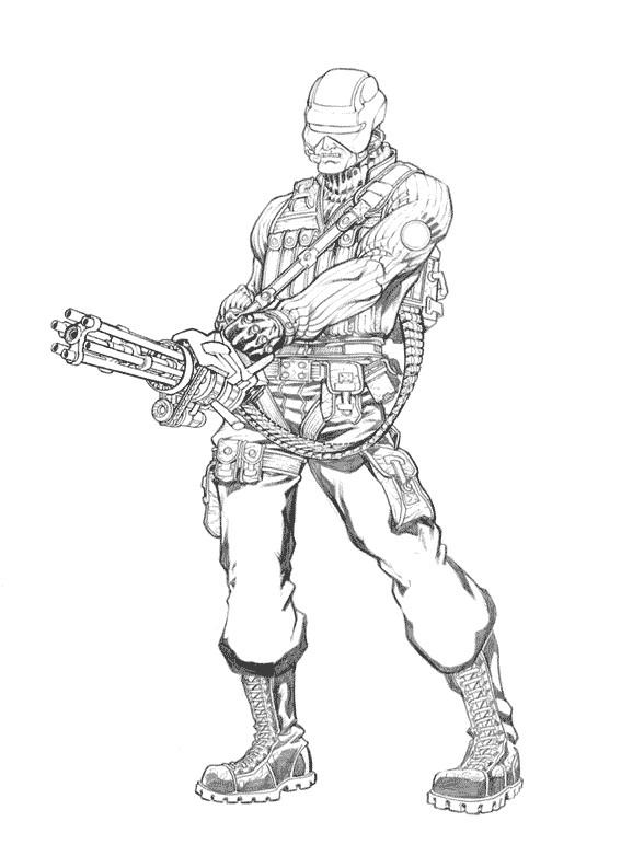 Coloriage et dessins gratuits GI-Joe portrait coloriage à imprimer