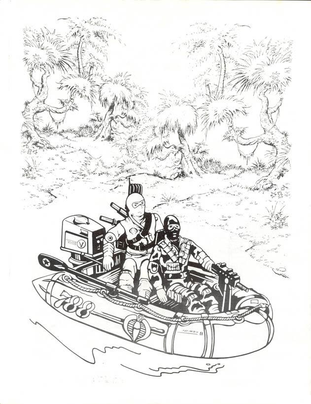 Coloriage et dessins gratuits L'équipe de G-I Joe dans leur navire à imprimer