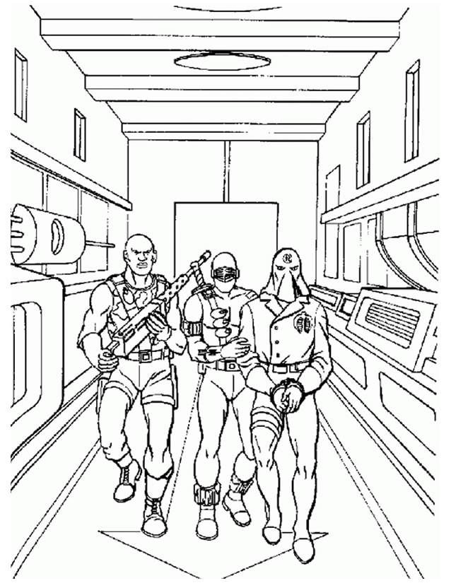 Coloriage et dessins gratuits l'équipe de GI Joe dessin animé à imprimer