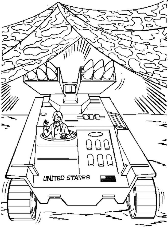 Coloriage et dessins gratuits La guerre de fusées à imprimer